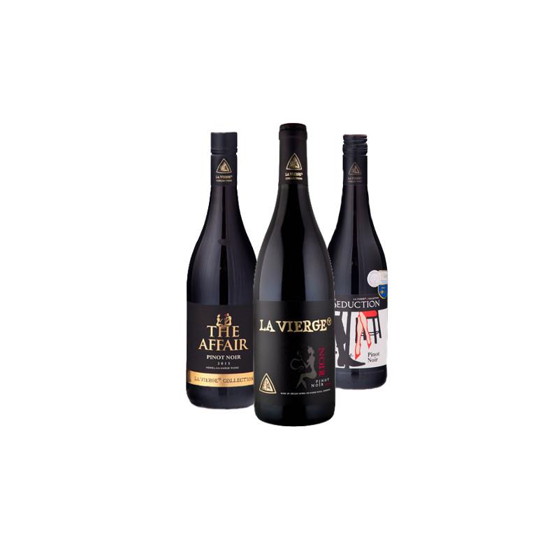 Image of   3 Pinot Noirs i gaveæske